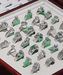 Diamond Jewelry on display at Emerald City Jewelers in Parma, Ohio