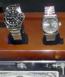 Close view of two wristwatches