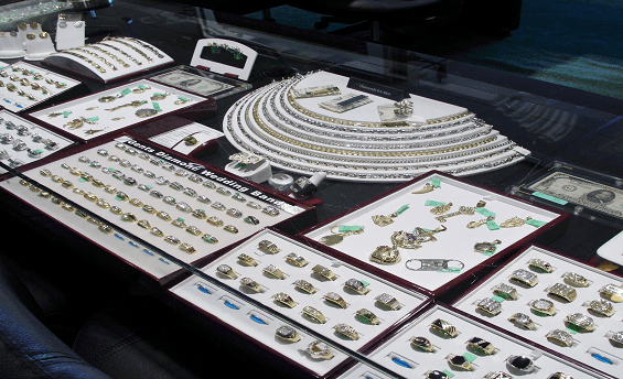 Men's Jewelry on display at Emerald City Jewelers