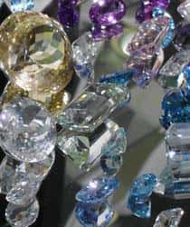 A variety of loose precious gems