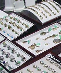 Display of various rings and bracelets