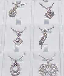 Array of platinum pendants