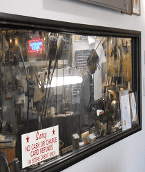 View into the jewelry and watch repair lab